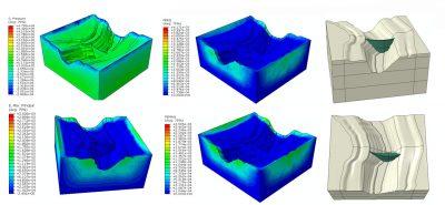 انجام پروژه بررسی استحکام سد بتی با در نظر گرفتن نفوذ آب در بستر به کمک نرم افزار آباکوس Abaqus Mohr coulomb plasticity concrete damage