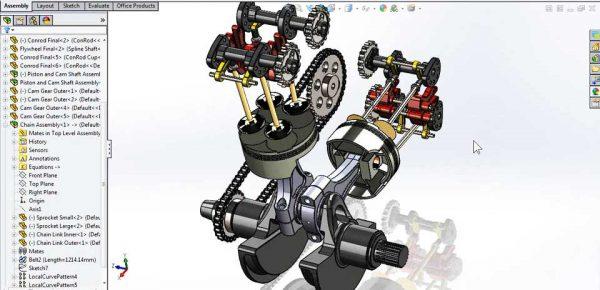 انجام پروژه های شبیه سازی دینامیکی در نرم افزار سالیدورک (SolidWorks) توسط نرم افزار ADAMS که با نام Motion simulation به صورت کاملا حرفه ای توسط افراد متخصص